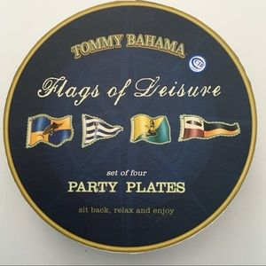 """Tommy Bahama Flags of Leisure Party Plates 7.5"""""""